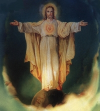 Heart of Jesus; painted by St. Ursula, 1897